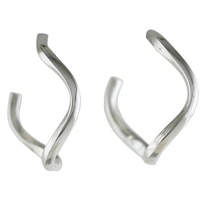 Sterling Silver Half-Hoop Earrings from Thailand