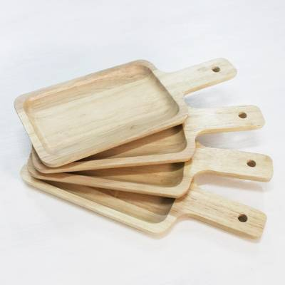 Wood serving boards, 'Nature's Treats' (set of 4) - 4 Artisan Crafted Wood Serving Boards Handcarved in Thailand