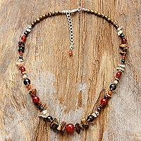 Multi-gemstone beaded necklace, 'Radiant Charm' - Multicolored Multi-Gemstone Beaded Necklace from Thailand