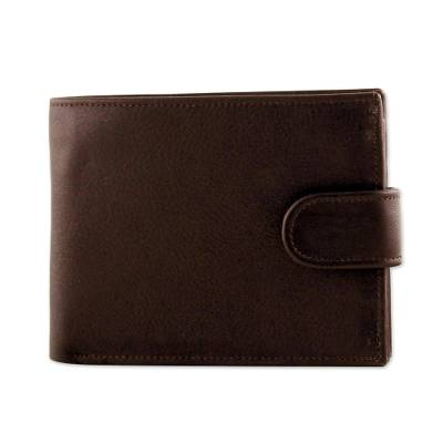 Handcrafted Leather Wallet in Espresso from Thailand