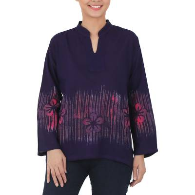 Long Sleeved Cotton Blouse 11