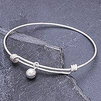 Sterling silver charm bracelet, 'Lucky Bauble' - 925 Sterling Silver Simple Charm Bracelet from Thailand