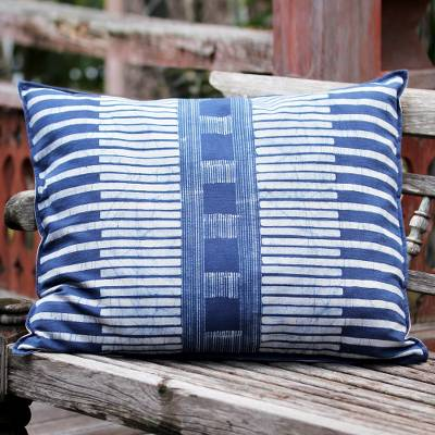 Cotton batik cushion cover, Urban Happiness