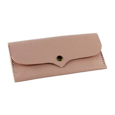 Handcrafted Leather Wallet in Blush from Thailand