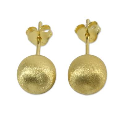 18k Gold Plated Sterling Silver Stud Earrings from Thailand
