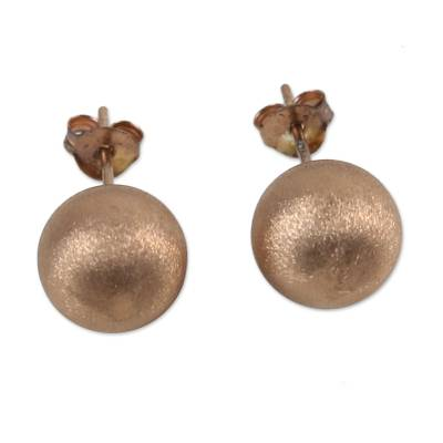 Rose Gold Plated Sterling Silver Stud Earrings from Thailand