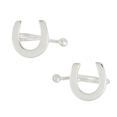 925 Sterling Silver Horseshoe Ear Cuffs from Thailand