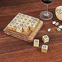 Wood game, 'Extreme Tic-Tac-Toe' - Handcrafted Large Wood Tic-Tac-Toe Board from Thailand