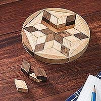 Wood puzzle, 'Star of David'