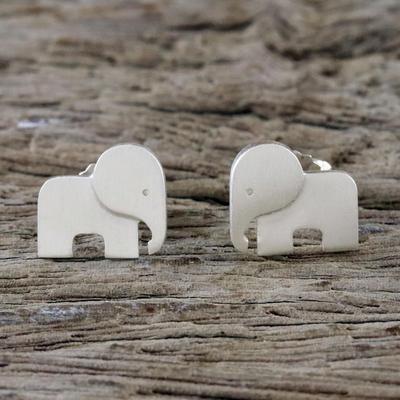 Sterling Silver Stud Earrings Adorable Elephants Elephant From