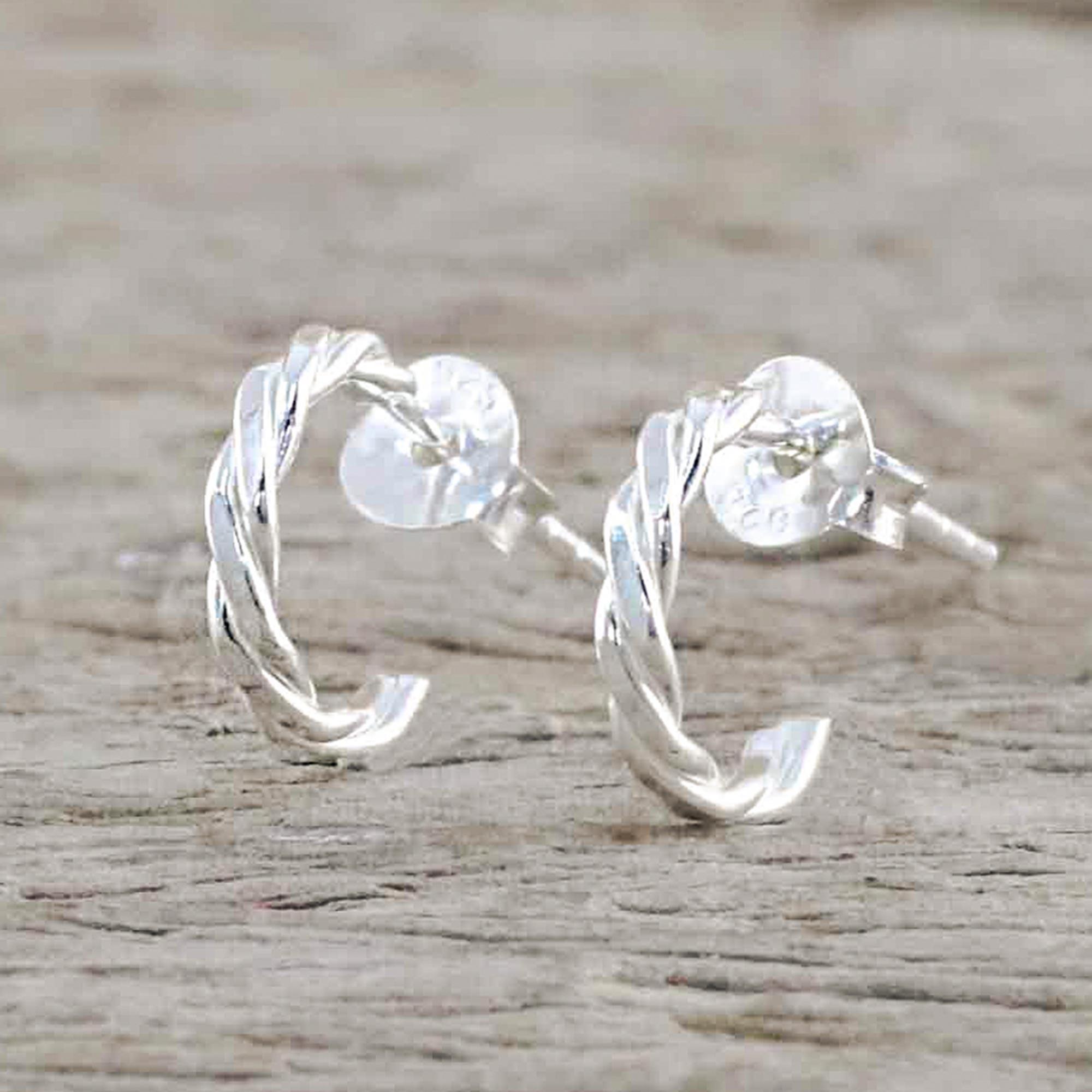 Sterling silver bead ear threads Contemporary silver dangle earrings Simple minimal threads Modern silver drop earrings Minimalist