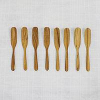 Teakwood butter knives, 'Tasty Spread' (set of 8)