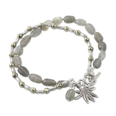 Labradorite Tree-Themed Beaded Bracelet from Thailand