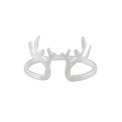 Satin Finish Sterling Silver Antler Ring from Thailand