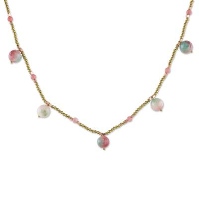 Quartz Beaded Necklace from Thailand