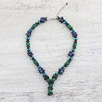 Multi-gemstone beaded necklace, 'Berry Cluster' - Multi-Gemstone Beaded Cluster Necklace from Thailand
