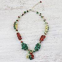Multi-gemstone beaded necklace, 'Cozy Grove' - Multi-Gemstone Colorful Beaded Necklace from Thailand