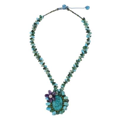 Turquoise Colored Multi Gemstone Beaded Necklace