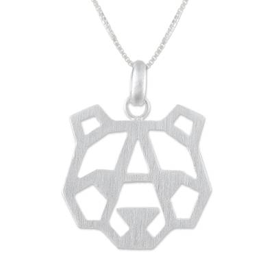 Bear-Shaped Sterling Silver Pendant Necklace from Thailand