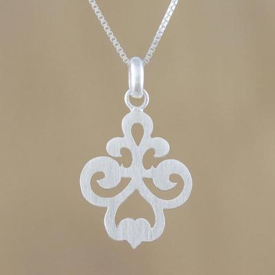Novica Sterling silver pendant necklace, Delicate Soul