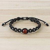 Featured review for Carnelian pendant bracelet, Fiery Ember