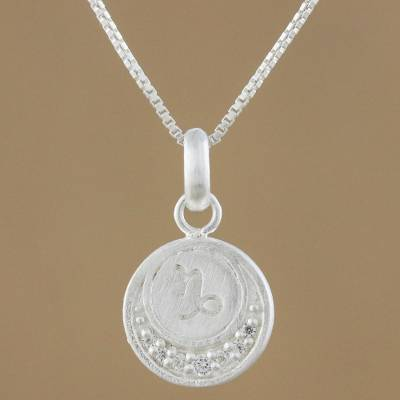 en shop plating swarovski purple us online web product pendant rhodium zodiac capricorn jewelry