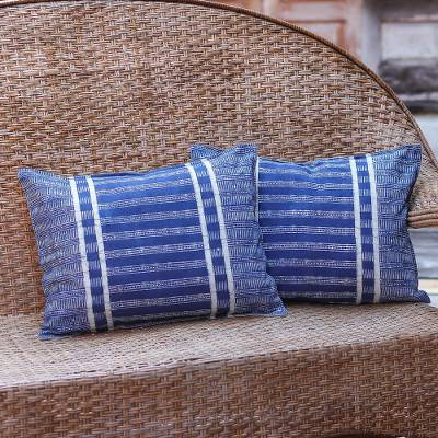 Batik cotton cushion covers, Thai Parallels (pair)