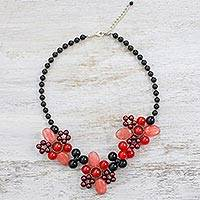 Multi-gemstone beaded necklace, 'Day of Elegance' - Multi-Gemstone Beaded Necklace from Thailand