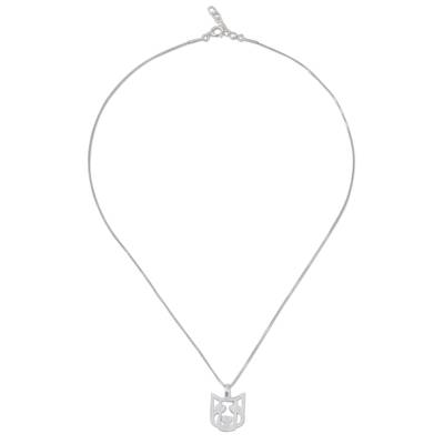 Sterling Silver Dog Pendant Necklace from Thailand