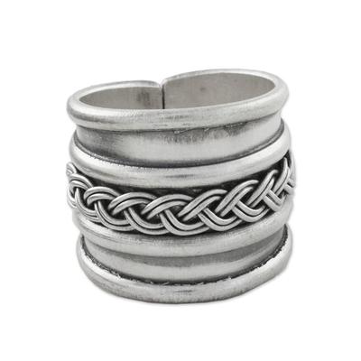 Sterling silver wrap ring, 'Eternal Memory' - Handcrafted Sterling Silver Wrap Ring from Thailand