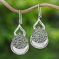 Sterling silver dangle earrings, 'Elegance Everlasting' - Sterling Silver Dangle Earrings Hand Crafted in Thailand