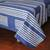Cotton batik bedspread, 'Split Bamboo Lattice' (king) - Artisan Made Indigo Batik 100% Cotton Bedspread (King) (image 2b) thumbail