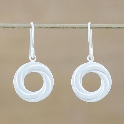 Novica Sterling silver dangle earrings, Modern Allure