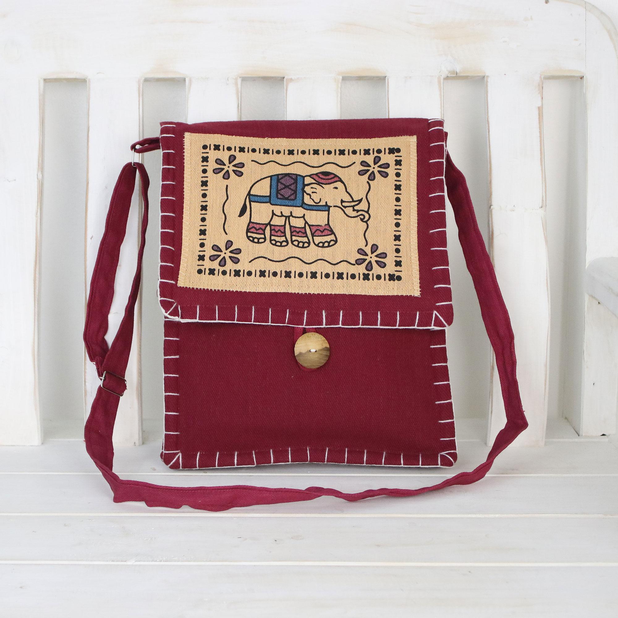 Charming handmade pouch