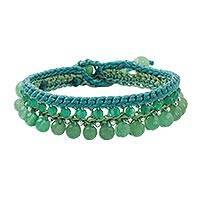 Quartz beaded bracelet, 'Green Breeze' - Green Quartz Beaded Bracelet Handcrafted in Thailand