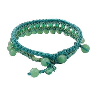 Green Quartz Beaded Bracelet Handcrafted in Thailand