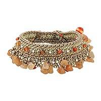 Featured review for Carnelian beaded bracelet, Cozy Bohemian