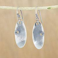 Sterling silver dangle earrings, 'Mystical Modernity' - Modern Sterling Silver Dangle Earrings from Thailand