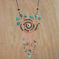 Featured review for Multi-gemstone pendant necklace, Bohemian Sojourn