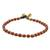 Jasper beaded anklet, 'Brilliant Day' - Jasper and Brass Beaded Anklet from Thailand thumbail