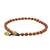 Jasper beaded anklet, 'Brilliant Day' - Jasper and Brass Beaded Anklet from Thailand (image 2b) thumbail