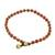 Jasper beaded anklet, 'Brilliant Day' - Jasper and Brass Beaded Anklet from Thailand (image 2c) thumbail