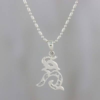 Sterling silver pendant necklace, Elephant Melody