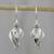 Sterling silver dangle earrings, 'Tropical Breeze' - Thai Dewdrop Shaped Sterling Silver Dangle Earrings thumbail