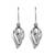 Sterling silver dangle earrings, 'Tropical Breeze' - Thai Dewdrop Shaped Sterling Silver Dangle Earrings (image 2a) thumbail
