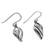 Sterling silver dangle earrings, 'Tropical Breeze' - Thai Dewdrop Shaped Sterling Silver Dangle Earrings (image 2c) thumbail