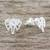 Sterling silver stud earrings, 'Elephant Illusion' - Elephant Stud Earrings Crafted from Brushed Sterling Silver (image 2b) thumbail
