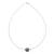 Jade pendant necklace, 'Trajectory' - Minimalist Jade Pendant Necklace on Stainless Steel (image 2c) thumbail