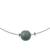 Jade pendant necklace, 'Trajectory' - Minimalist Jade Pendant Necklace on Stainless Steel (image 2d) thumbail