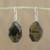 Tiger's eye dangle earrings, 'Honeyed Nugget' - Tiger's Eye Dangle Earrings on Sterling Silver Hooks (image 2) thumbail